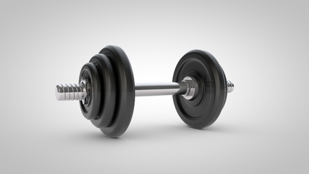Dumbbell isolated on white background Stock Photo