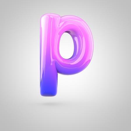 Glänzend Rosa Und Violett Farbverlauf Farbe Alphabet Buchstaben P ...