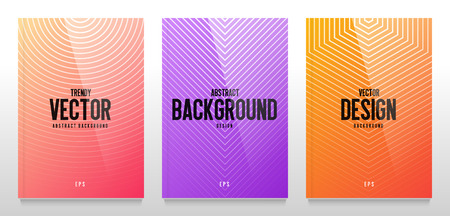 Abstract vector background. Modern cover design isolated on white background. Colorful trendy gradient. Illustration