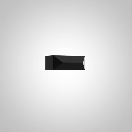 Black minus symbol. Chiseled glossy font isolated on white. 3d rendered alphabet.