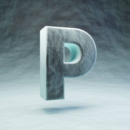 Micro letter P uppercase. 3D rendered microscopic font. Best for medications advertising, virus control and various diseases prints.