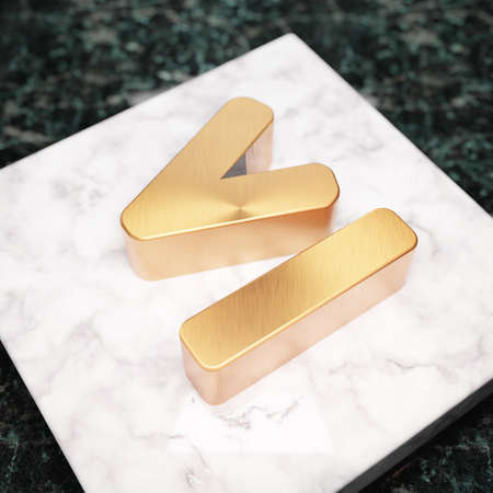 Less Than or Equal icon. Bronze Less Than or Equal symbol on white marble podium. Icon for website, social media, presentation, design template element. 3D render.
