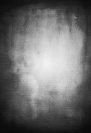 Handpainting watercolor gradient blurred background in black Stock Photo