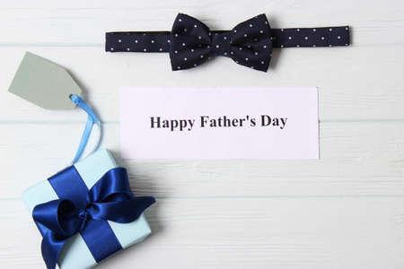 Fathers day background on light background Foto de archivo