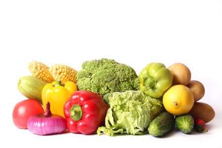 Set of different fresh vegetables close-up. Healthy eating