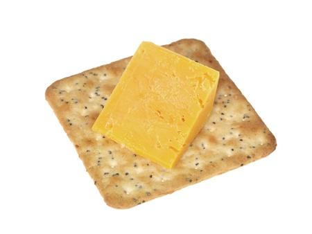 Cracker and Cheese Stock Photo