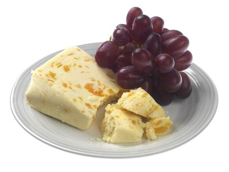 crumbled: Red Grapes with Cheese