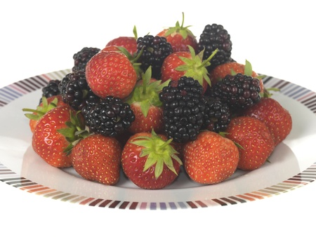 Strawberries and Blackberries photo