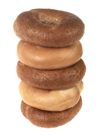 brown and white bagels stock photo picture and royalty free image