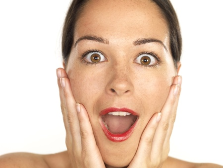 Shocked Young Woman. Model Released