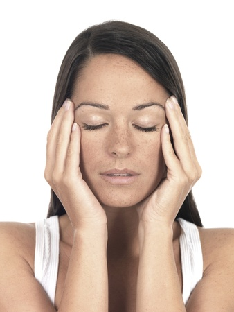 stressed out: Young Woman with Headache