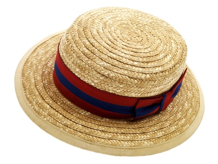 Wicker School Hat Stock Photo