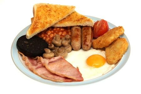 Prima colazione all'inglese completa