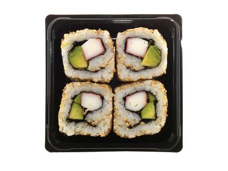 Box di Sushi Archivio Fotografico