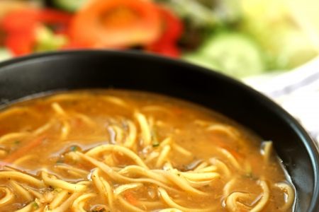 Thai Prawn Ramen Noodle Soup photo
