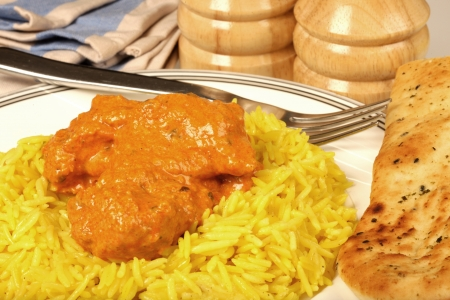 mild: Chicken Masala Curry and Rice
