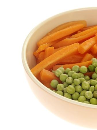 crudite: Carrots and Peas