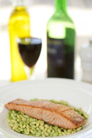 Salmon Fillet with Edamame Beans photo