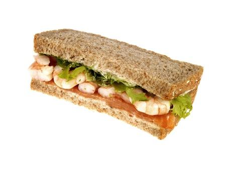 Smoked Salmon and Prawn Sandwich
