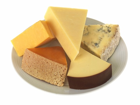 Plate of Mixed Cheeses photo