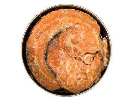 Tin of Red Salmon Stock Photo - 15624599
