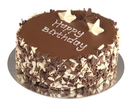 happy birthday cake: Pastel de chocolate de cumplea�os