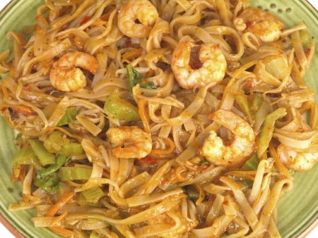Spicy King Prawn and Noodles photo