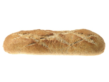 unsliced: French Country Loaf Stock Photo
