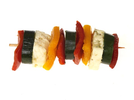 Halloumi Cheese and Vegetable Kebabs photo