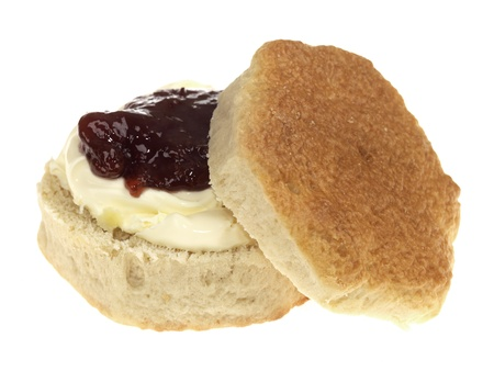 Scone with Jam and Clotted Cream photo