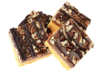 Caramel and Pecan Squares Stock Photo - 19449391