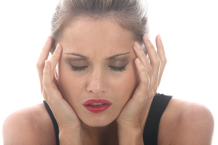 fedup: Model Released. Stressed Young Woman With a Headache