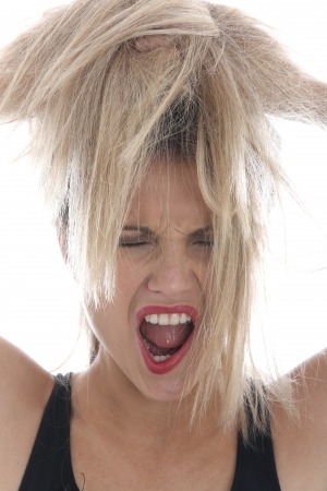 Model Released. Angry Young Woman photo