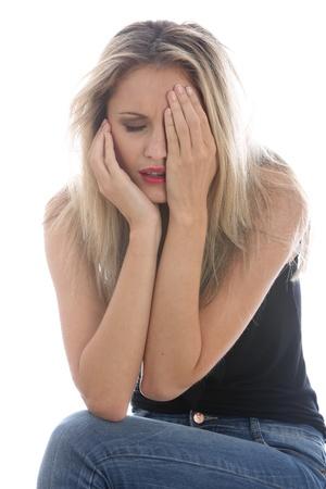 fedup: Model Released. Upset Young Woman