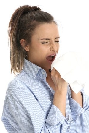 Woman Sneezing photo