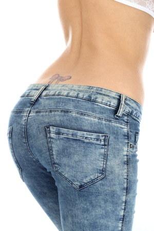 butt tight jeans: Model Released. Woman Wearing Tight Jeans