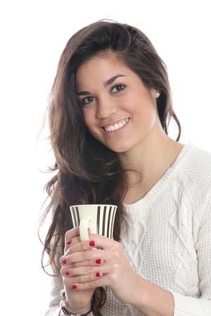 Young Woman Drinking Tea Stock Photo - 21004794
