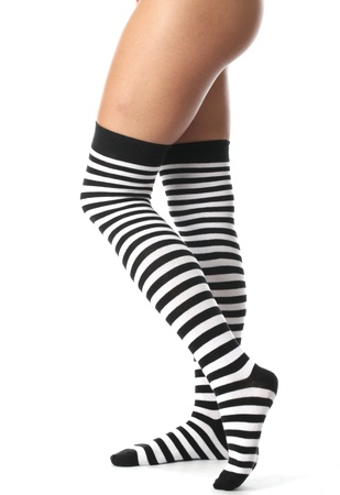 Model Released. Sexy Young Woman Wearing Knee Socks Stock Photo - 21257221
