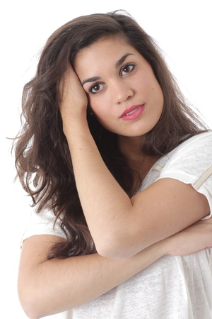 Model Released. Relaxed Thoughtful Attractive Young Woman Stock Photo - 21482401