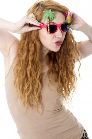 Model Released. Attractive Young Woman Wearing Sunglasses