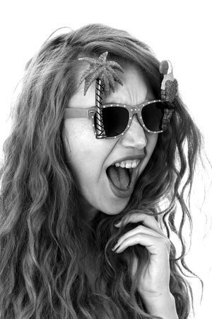 Model Released. Attractive Young Woman Wearing Sunglasses photo