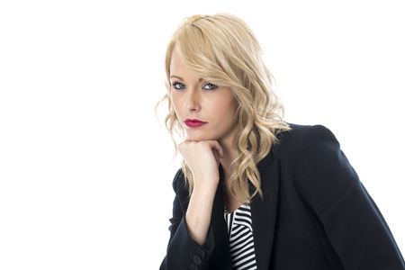 Model Released. Thoughtfull Young Business Woman Stock Photo - 22401016
