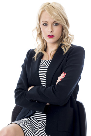 Model Released. Bored Young Business Woman Stock Photo - 22401024