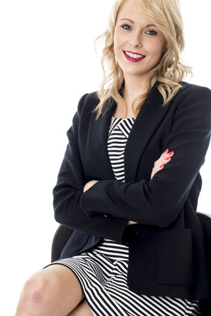 Model Released. Happy Young Business Woman Arms Folded photo