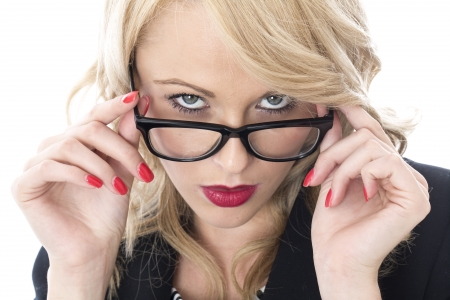 Model Released. Serious Thoughtful Young Business Woman Stock Photo - 22401035