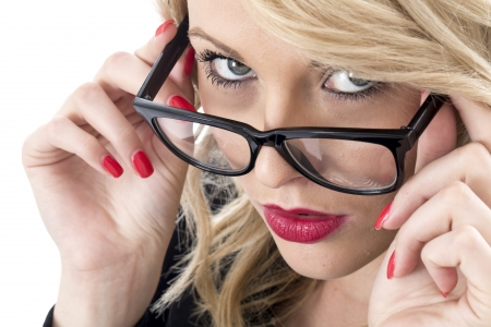 Model Released. Serious Thoughtful Young Business Woman Stock Photo - 22401037