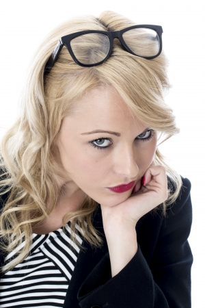 Model Released. Sad Unhappy Young Business Woman Stock Photo - 22401048
