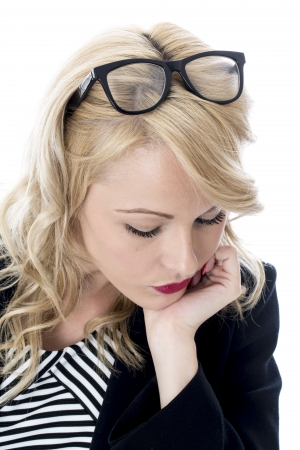 Model Released. Sad Unhappy Young Business Woman Stock Photo - 22401049