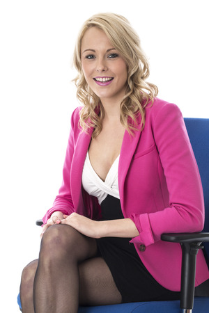 Model Released. Attractive Happy Young Business Woman photo