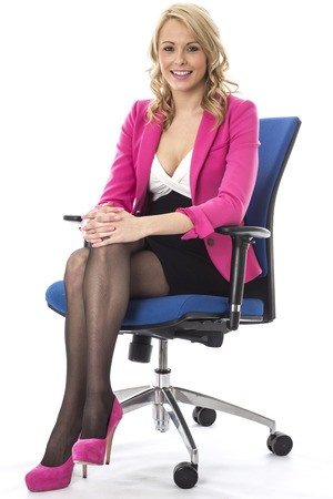 Model Released. Attractive Happy Young Business Woman